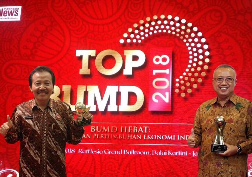 Penghargaan TOP BUMD 2018 Kembali diraih PDAM Bantul